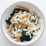 Crispy Pasta with Kale and Parmesan