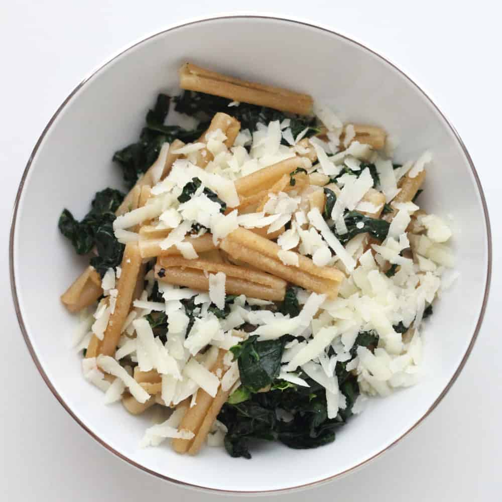 Crispy Pasta with Kale and Parmesan from Living Well Kitchen