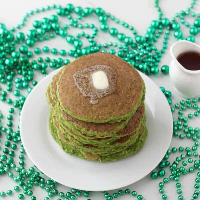 St. Patrick's Day Protein Pancakes from Living Well Kitchen @memeinge