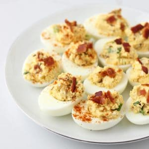 Bacon Deviled Eggs from Living Well Kitchen