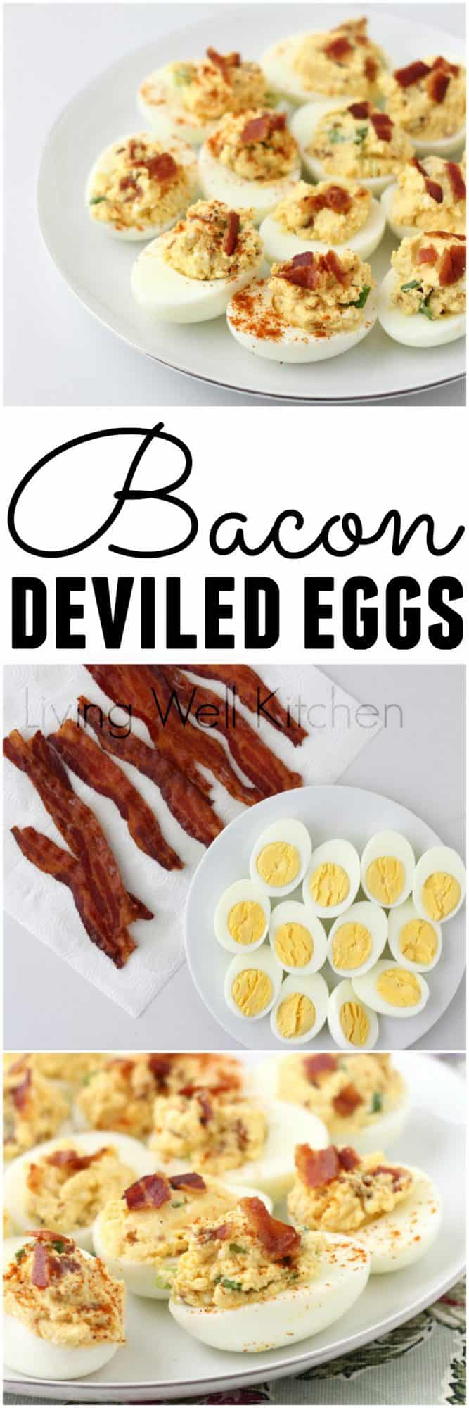 Combine two of the best breakfast foods ever for this tasty Easter appetizer. But this Bacon Deviled Egg recipe isn't just for the springtime. They're a great make ahead appetizer to bring to parties or a delicious and filling snack.