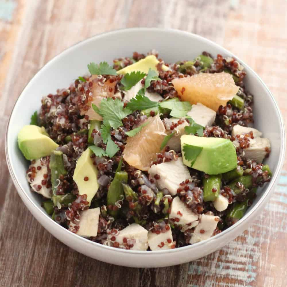 Chicken and Grapefruit Quinoa Salad