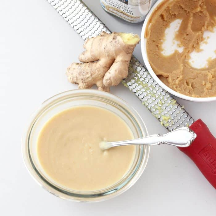 Miso dressing is a versatile sauce that adds a flavorful punch to any dish. It's a great way to incorporate more miso into your diet. Miso Dressing from @memeinge
