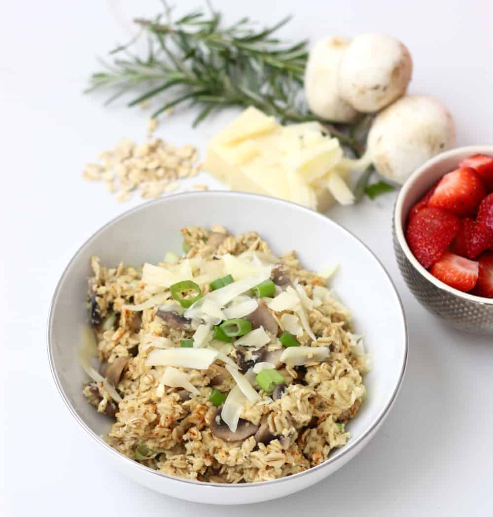 Rosemary Swiss Oatmeal with Mushrooms from Living Well Kitchen