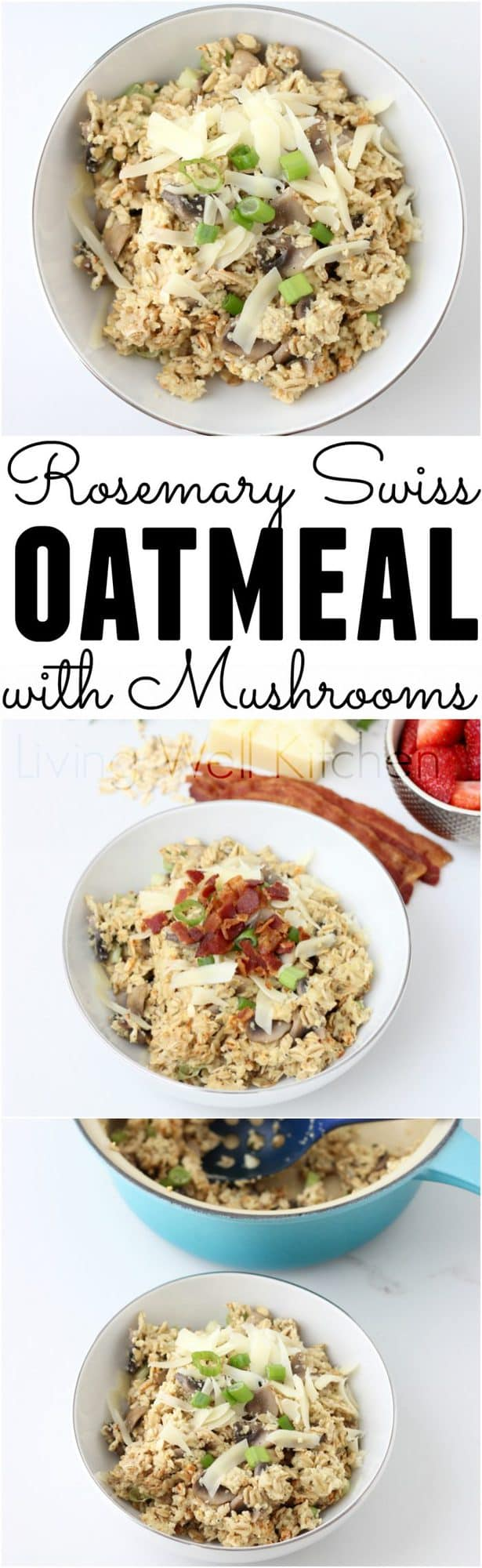 Rosemary Swiss Oatmeal with Mushrooms from @memeinge is a delicious and budget-friendly twist on your typical breakfast food.