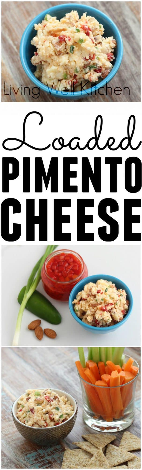 AD: Loaded Pimento Cheese from @memeinge is a loaded cheese spread perfect for snacking any time of the day made with Real California Milk cheese and packed with almonds, jalapeños, garlic, and green onions.
