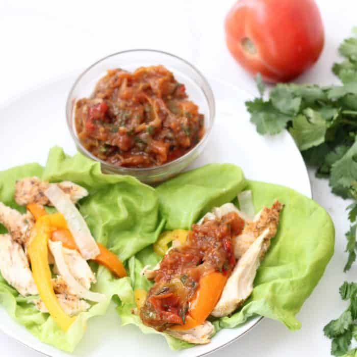 Roasted Vegetable Salsa from Living Well Kitchen packs in the veggies and the flavorfor a delicious, allergy friendly, vegan condiment