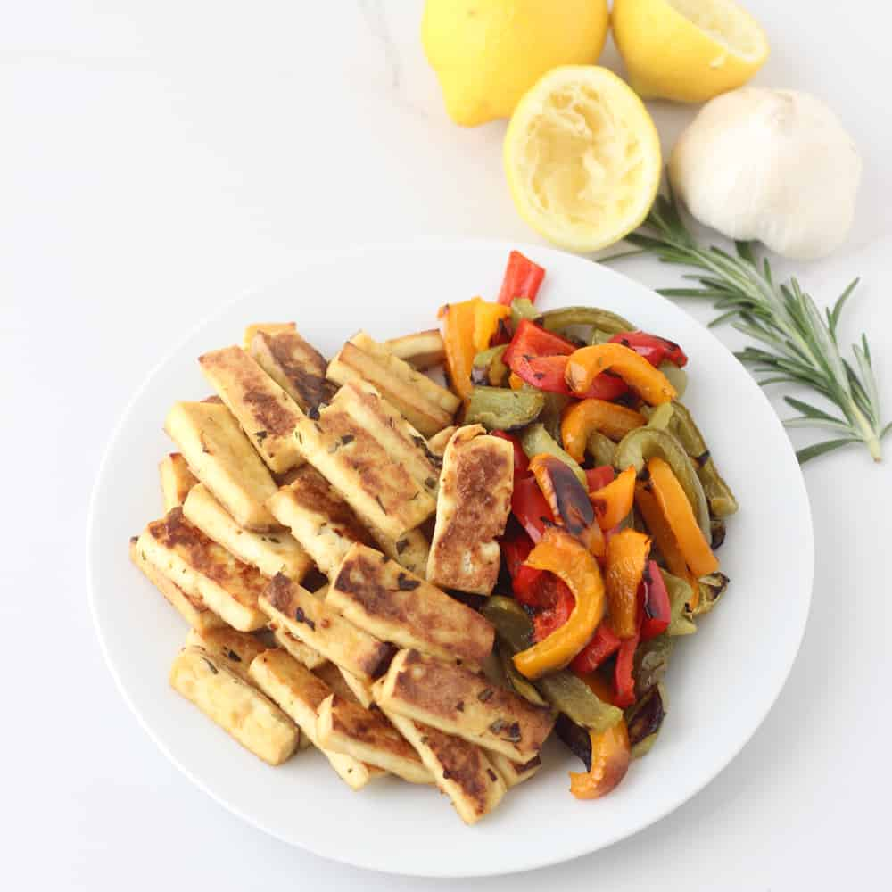 Rosemary Lemon Tofu and Peppers