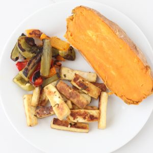 Rosemary Lemon Tofu and Peppers from Living Well Kitchen