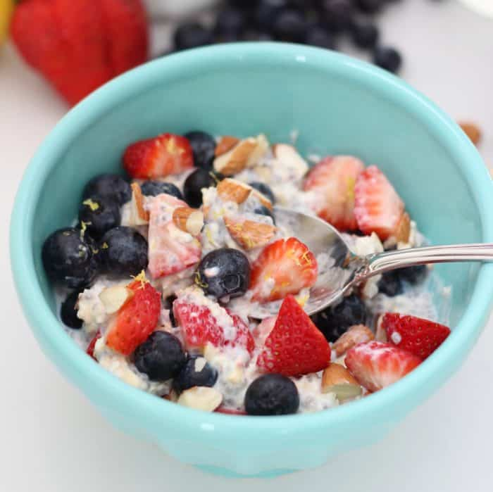 Almond Berry Overnight Oats from Living Well Kitchen
