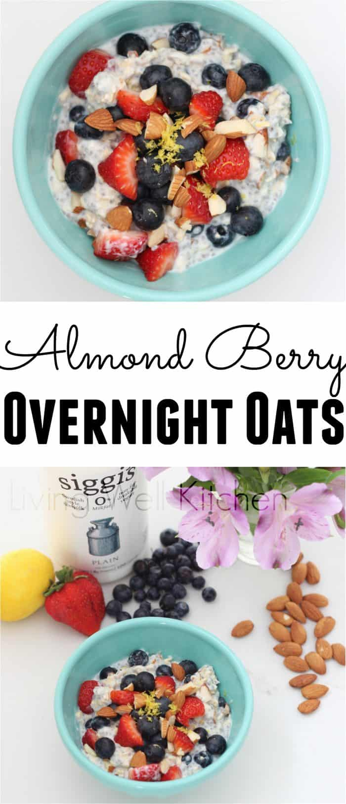 Use filmjölk for a protein packed, probiotic-filled take on overnight oats. Adding almonds and berries adds fiber and deliciousness. Almond Berry Overnight Oats recipe from @memeinge