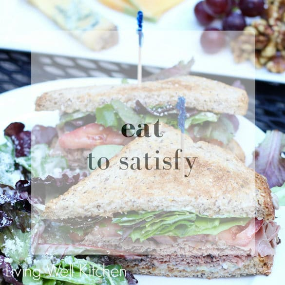 Diets don't work, so let's all start eating to satisfy. Enjoy your food for what it is: nourishment for your body & soul ~ from Living Well Kitchen
