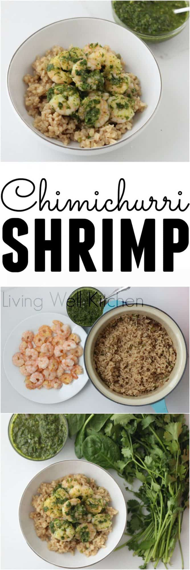 Chimichurri is an herby, spicy green sauce that is perfect for this nourishing shrimp and rice dish. This gluten free Chimichurri Shrimp from @memeinge is a veggie-packed dish with tons of flavor