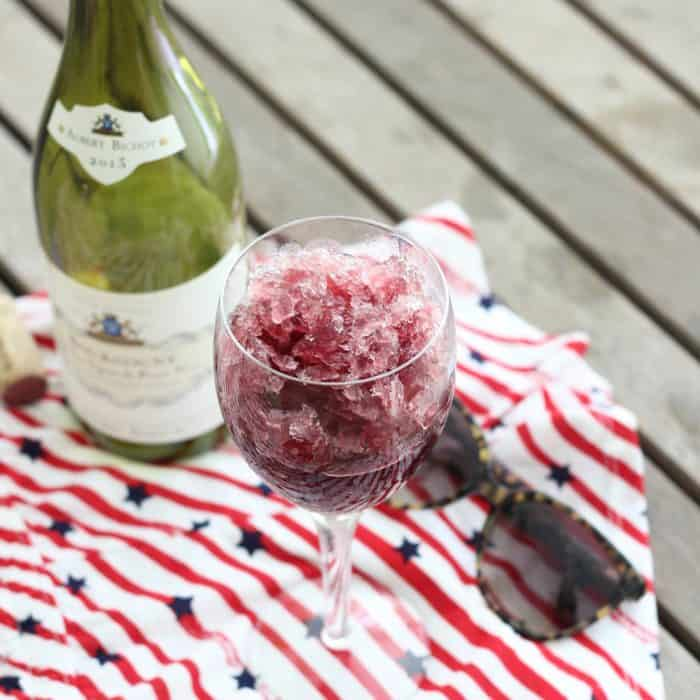 Wine Slushy from Living Well Kitchen