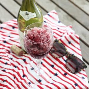 Wine Slushy from Living Well Kitchen