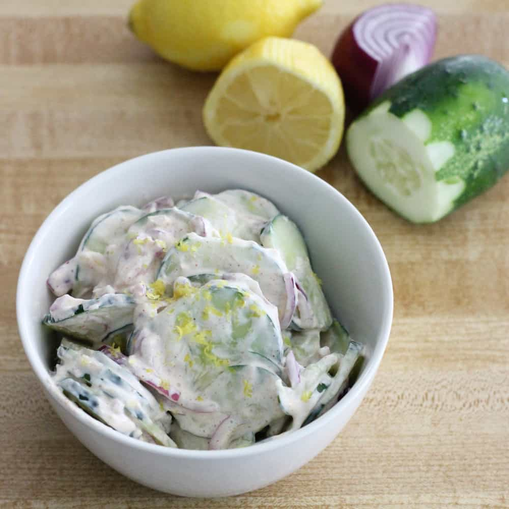 Creamy Cajun Cucumber Salad from Living Well Kitchen