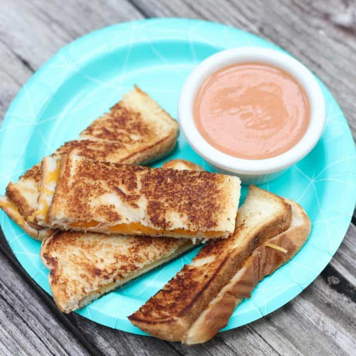 Take all the guesswork out of feeding your baby (and your kids) with Dr. Sonali Ruder's Natural Baby Food cookbook. Full of recipes, including these fun & tasty Grilled Cheese Dippers with Creamy Tomato Sauce, this book is not just for parents with babies.