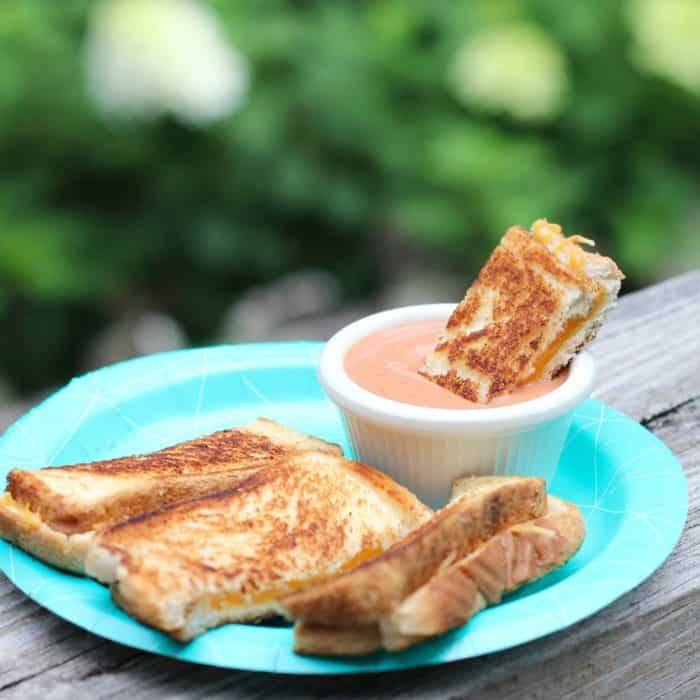 Grilled Cheese Dippers with Creamy Tomato Sauce from Living Well Kitchen