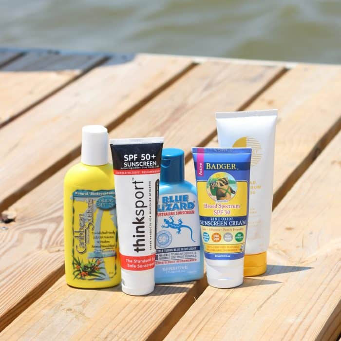 A review of the best sunscreens that are also safe. How effective they are, how well they go on your skin, and their smell so you can keep yourself protected from the sun without being covered in thick, gloopy, smelly sunscreen