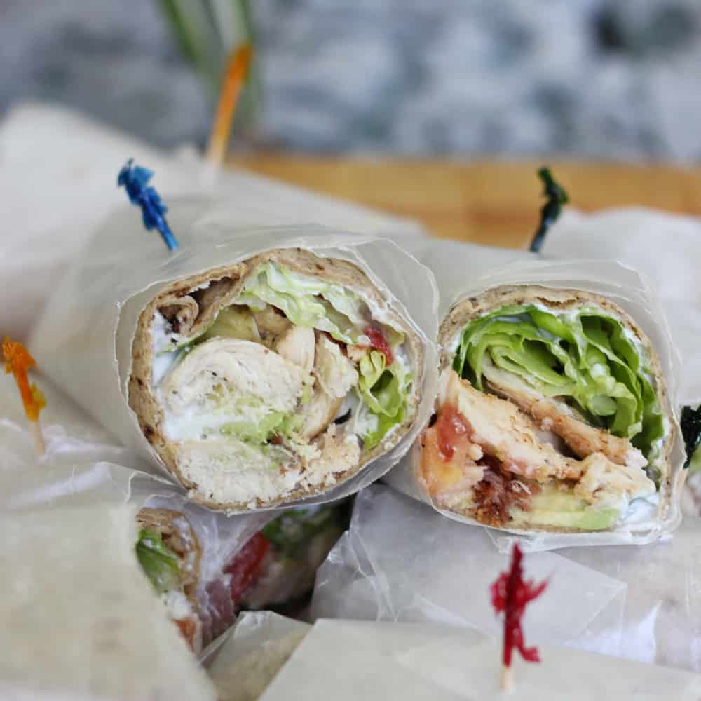 Cobb Salad Wraps from Living Well Kitchen