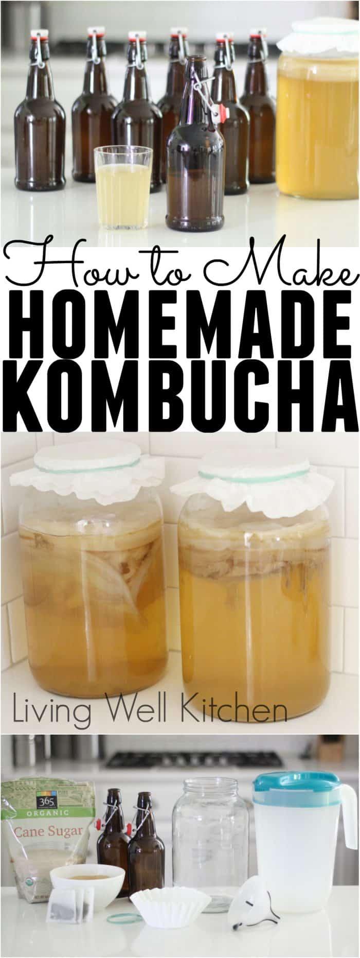 Learn how to make your own homemade kombucha, a bubbly fermented beverage, with a video and specific & detailed instructions from start to finish from @memeinge