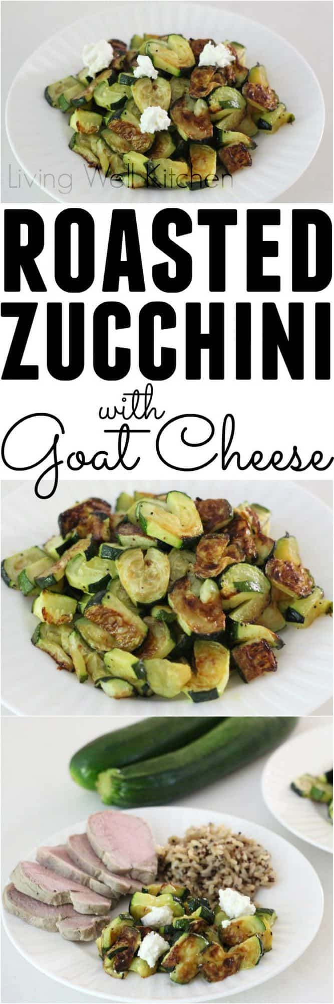 Roasted Zucchini Hearts with Goat Cheese from @memeinge. Heart-shaped veggies make life more fun, and these heart-shaped zucchinis are delicious after being roasted and topped with goat cheese. Includes a video for making heart-shaped zucchini
