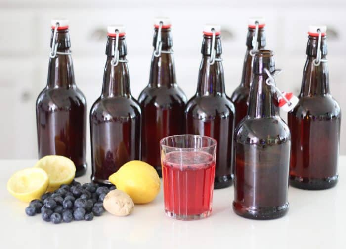 Ginger Berryade Kombucha from Living Well Kitchen