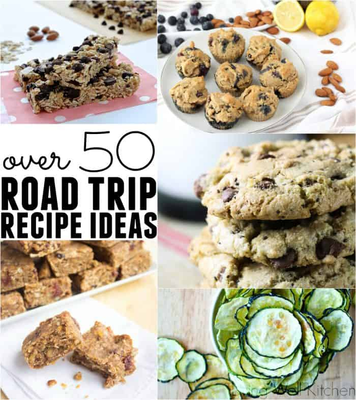 Over 50 recipes for snack ideas to take on your road trip. These portable options will keep you satisfied no matter where you are! Road Trip Recipe Round-up from @memeinge