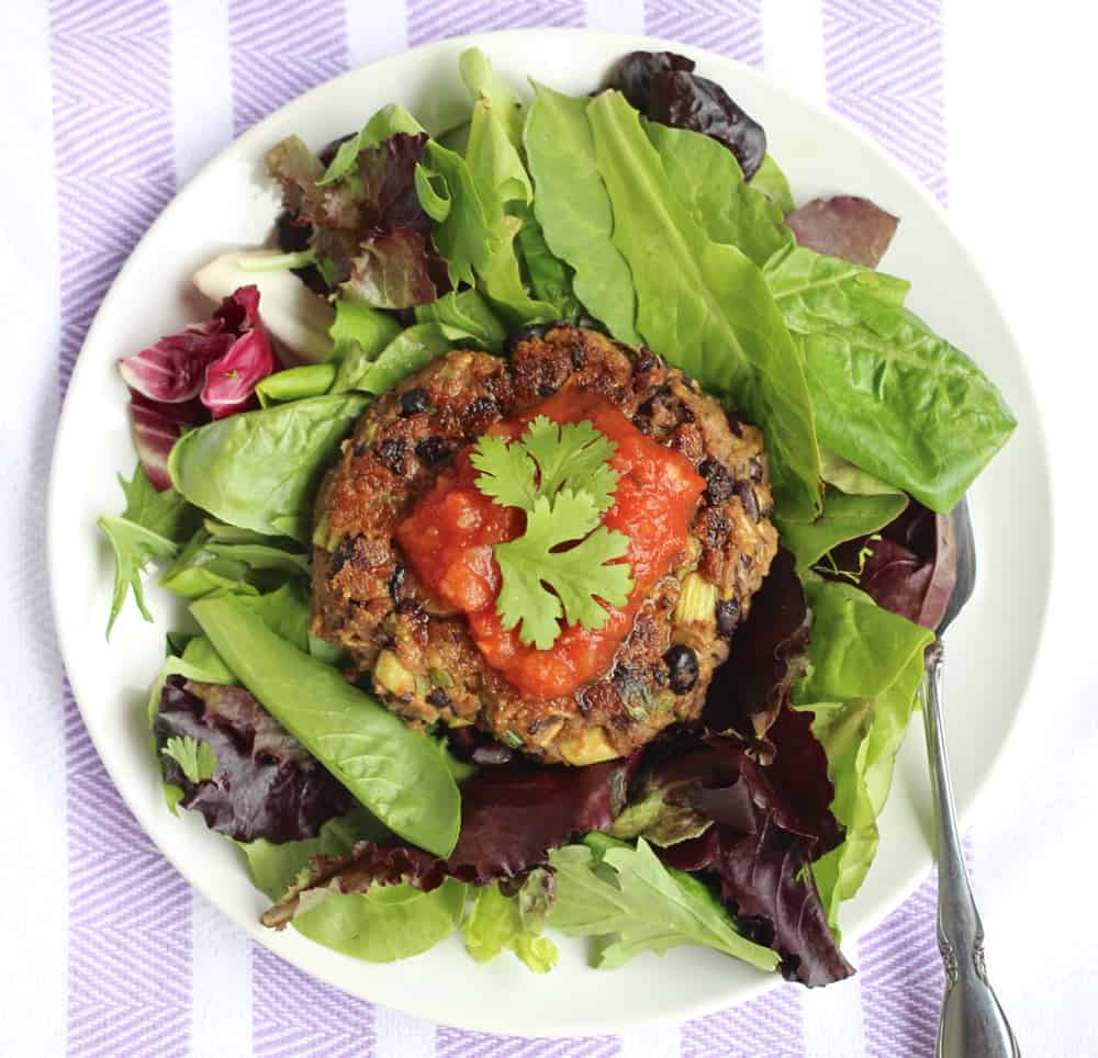 Avocado Black Bean Burgers