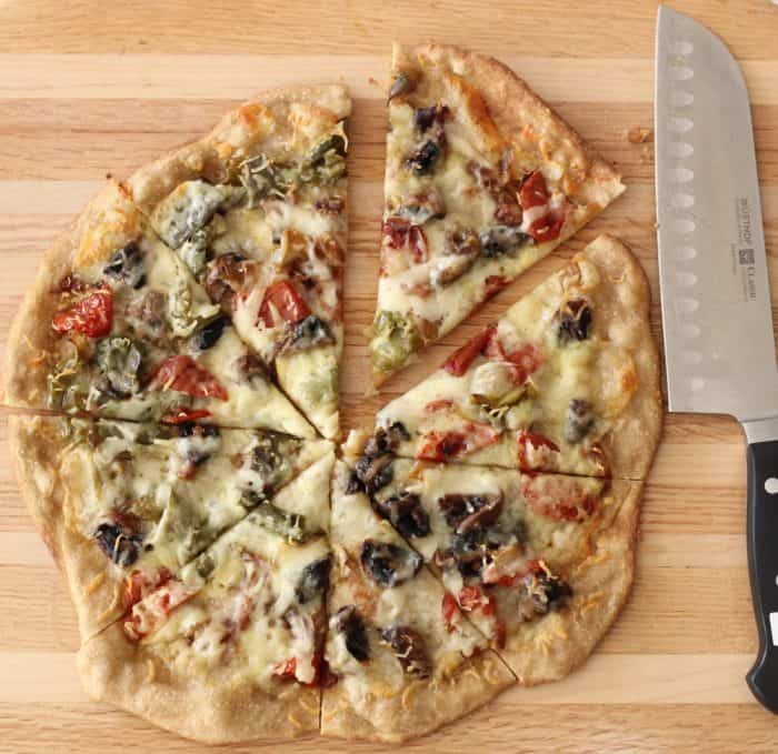 Roasted Vegetable Pizza from Living Well Kitchen