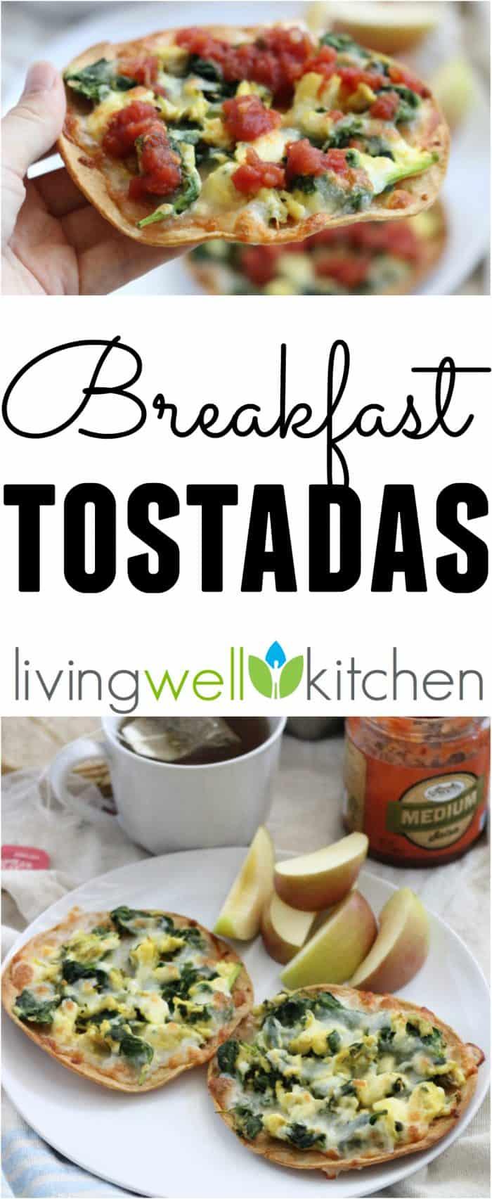 Skip the restaurant for these crispyveggie-packed and healthy breakfast tostadas. This Breakfast Tostadas recipe is a tasty gluten free breakfast or dinner idea