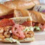 Dressed Shrimp Po Boy from Living Well Kitchen