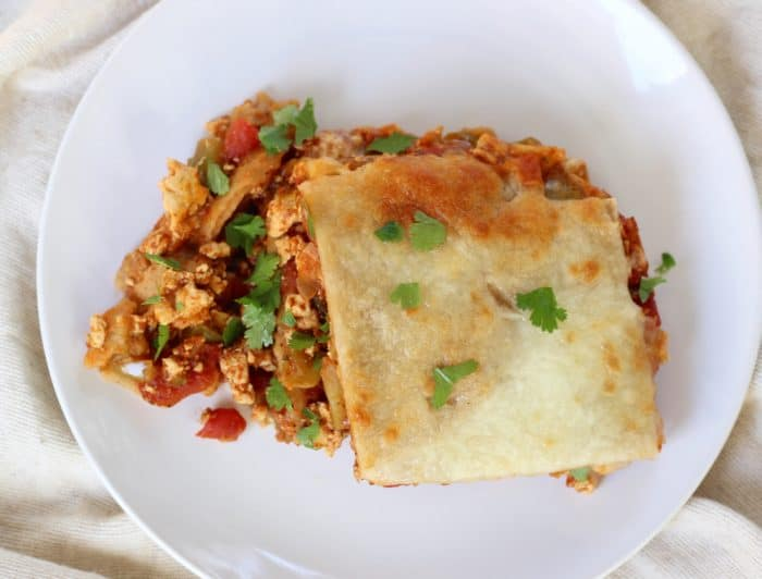 Tofu Taco Casserole from Living Well Kitchen