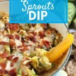 Brussels sprouts dip pinterest image
