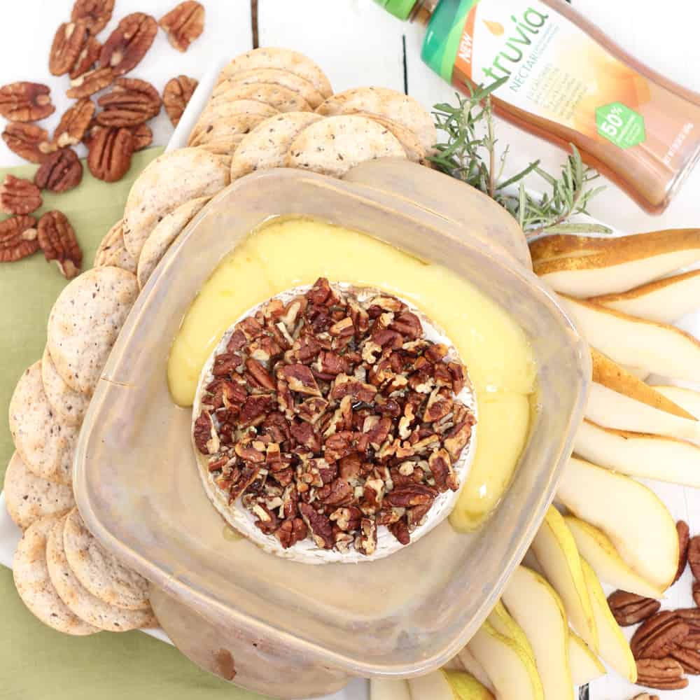 Rosemary Pecan Baked Brie from Living Well Kitchen