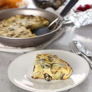 Leftover Thanksgiving Frittata from Living Well Kitchen