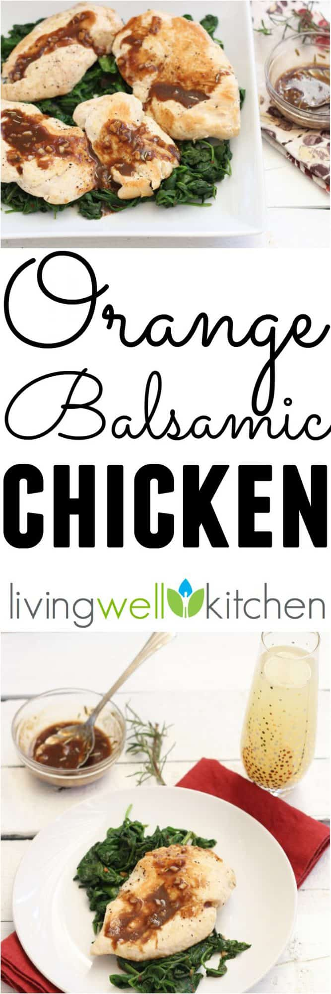 Liven up your chicken dish with this simple, one pot Orange Balsamic Chicken with Spinach from @memeinge filled with nutrients that's sweet, tangy and delicious. Gluten & dairy free