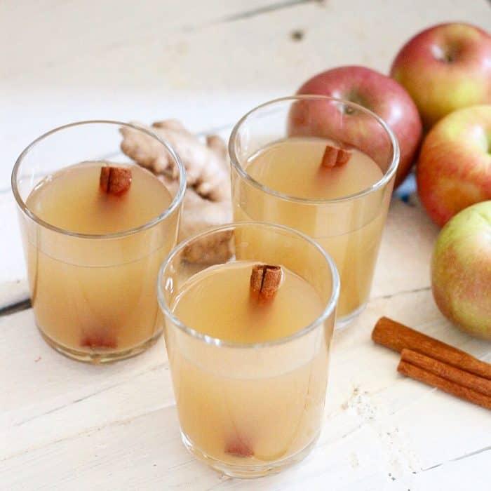 Apple Cinnamon Ginger Kombucha from Living Well Kitchen