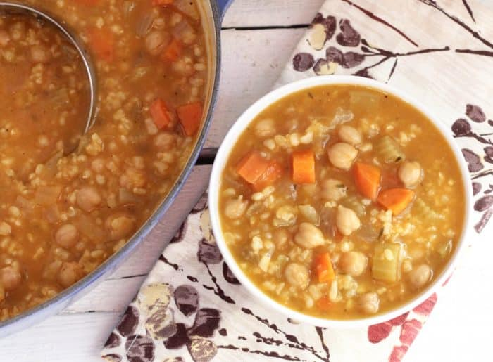 Lemon Chickpea and Rice Soup from Living Well Kitchen