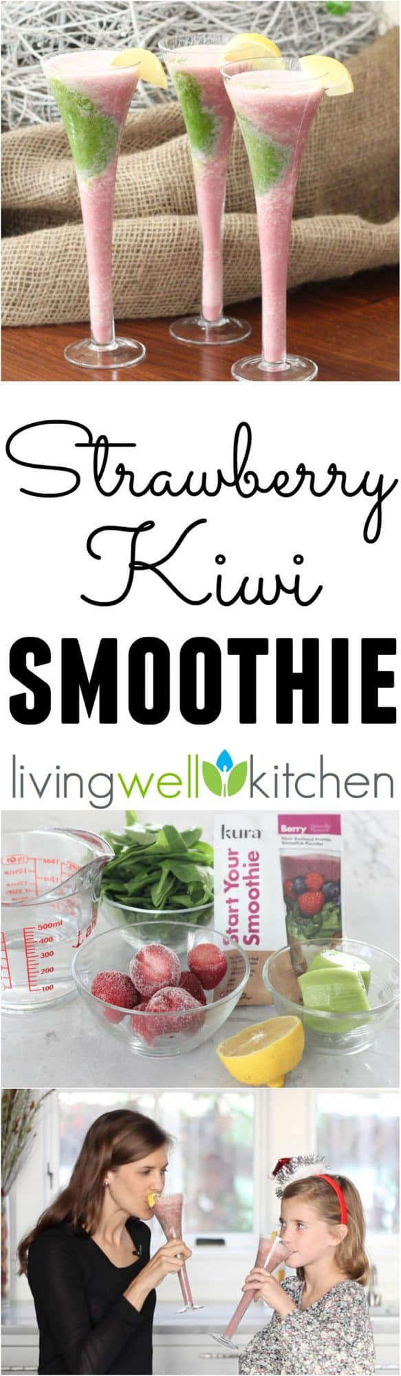 ad: Don't let the holiday rush keep you from filling your body with nourishing meals & snacks. This Strawberry Kiwi Smoothie recipe from @memeinge only has five ingredients and they all pack a nutritious punch! Great for a healthy breakfast or snack. Sponsored by @kuranutrition