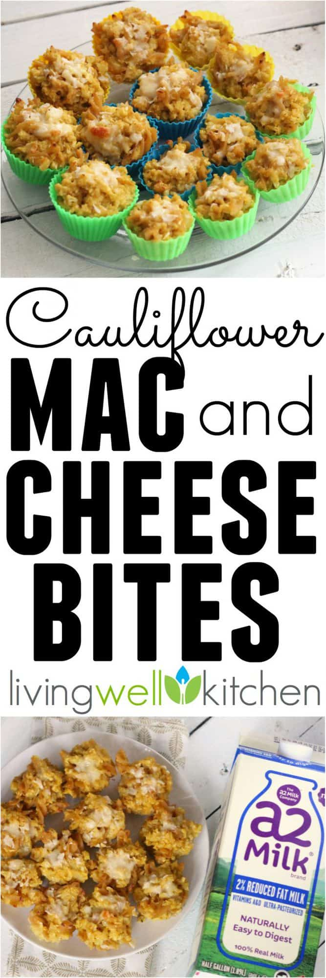 Cauliflower Mac & Cheese Bites from @memeinge are cheesy bites of deliciousness that are packed with flavor and veggies. Great for appetizers, snacks, lunch or dinner; these are sure to please everyone! Vegetarian recipe easily made gluten free