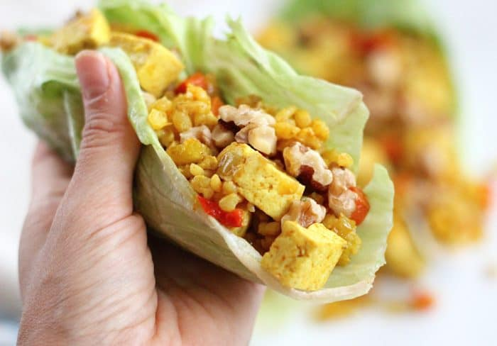 Tofu and Rice Lettuce Wraps from Living Well Kitchen