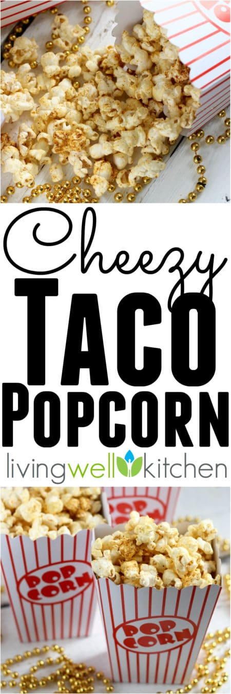 Cheezy Taco Popcorn recipe from @memeinge deliciously cheezy vegan, gluten free snack that's perfect for an afternoon break or a movie-watching bite to eat.