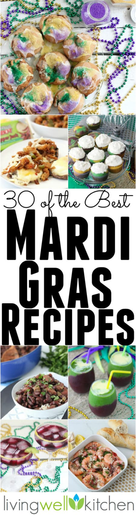 The 30 best recipes for celebrating the Mardi Gras season from @memeinge. From drinks, desserts and main dishes, you'll find something to inspire your Mardi Gras feast. Recipes for all dietary preferences, so you can make everyone at the party happy