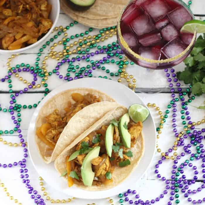 Mardi Gras Tacos from Living Well Kitchen