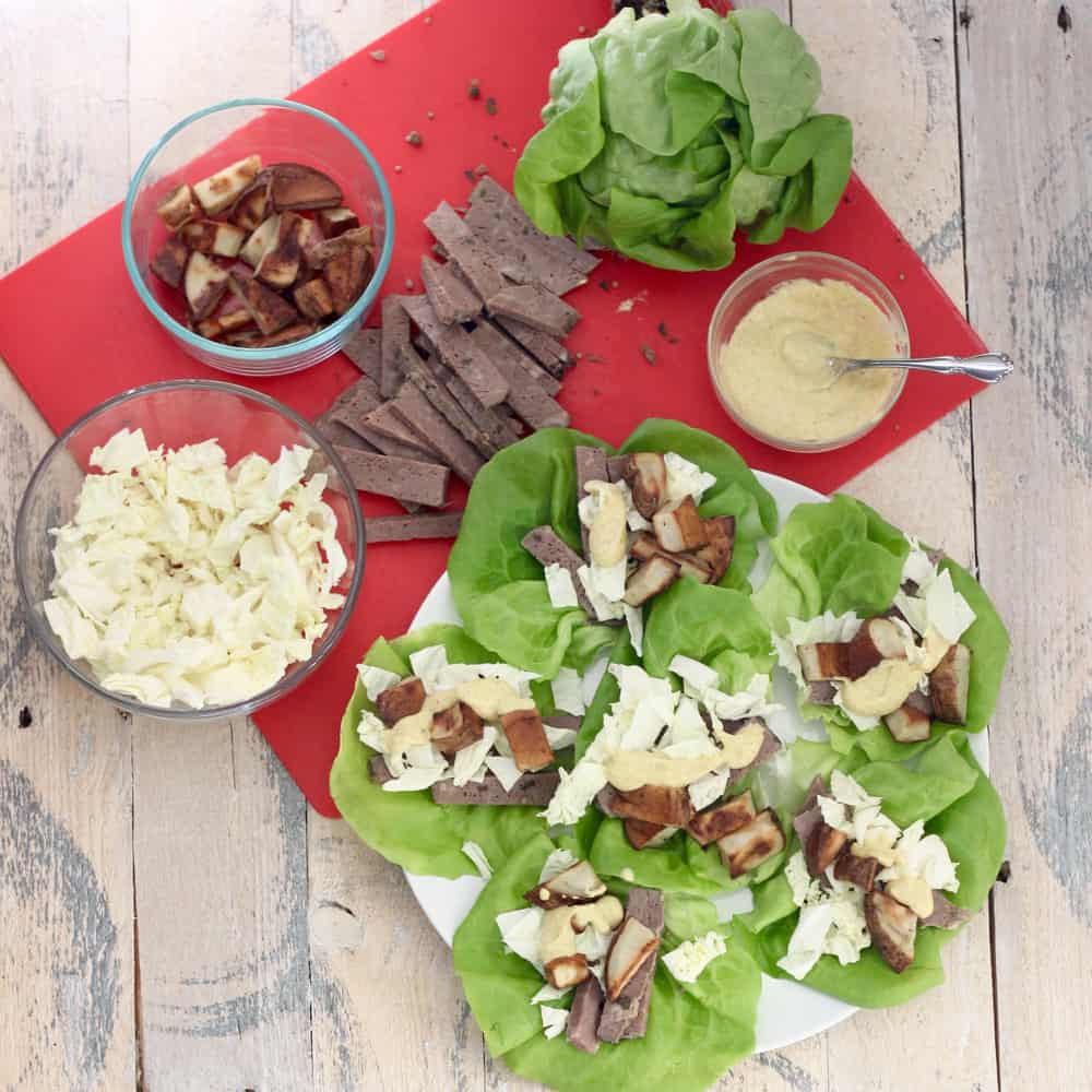 Corned Beef Cabbage Lettuce Wraps