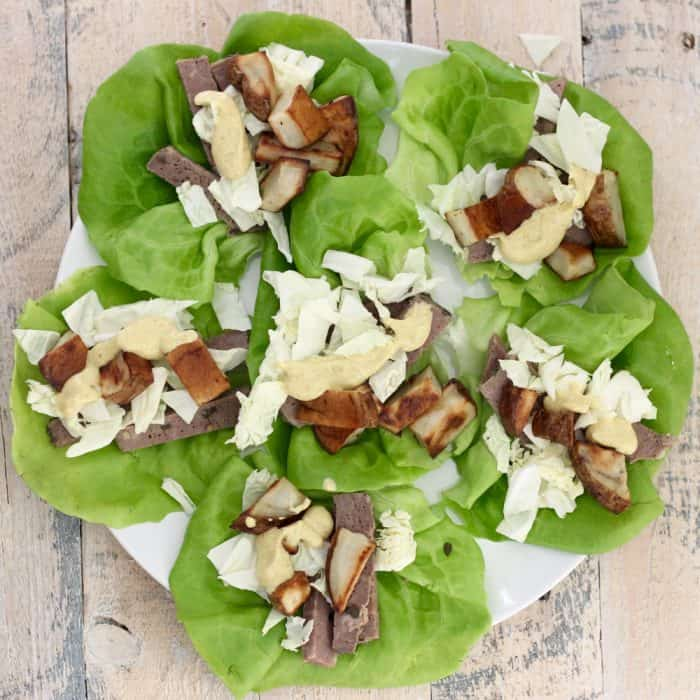 Corned Beef and Cabbage Lettuce Wraps from Living Well Kitchen