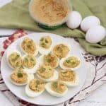 Hummus Deviled Eggs from Living Well Kitchen