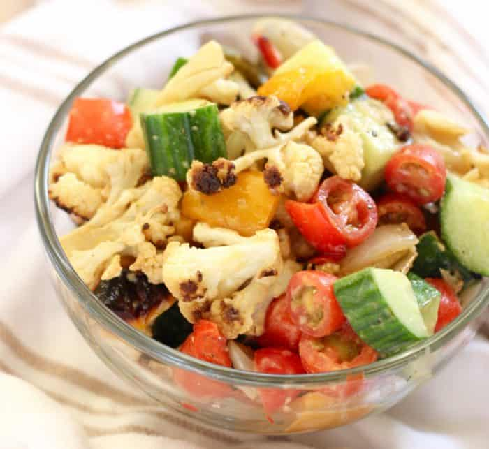 Roasted Vegetable Salad from Living Well Kitchen