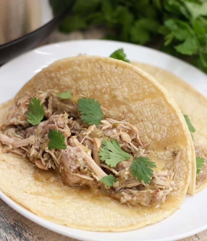 Slow Cooker Salsa Verde Pork from Living Well Kitchen